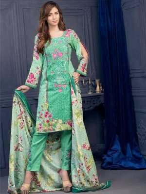 Mehram Winter By Akbar Aslam Sea Green Khaddar|8